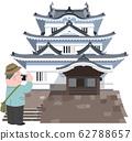 Uwajima Castle and travelers 62788657