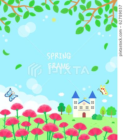 溫暖的春天的花朵景觀框架10 62789037