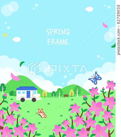따뜻한 봄 꽃 풍경 프레임8 62789038