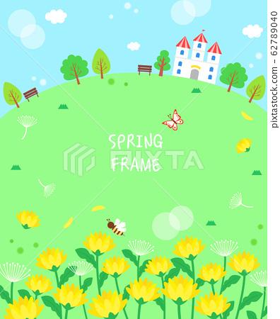溫暖的春天的花朵景觀框架7 62789040