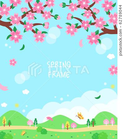 溫暖的春天的花朵景觀frame1 62789044
