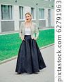 Stylish fashion portrait of blonde woman. 62791963