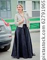 Stylish fashion portrait of blonde woman. 62791965
