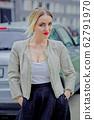 Stylish fashion portrait of blonde woman. 62791970