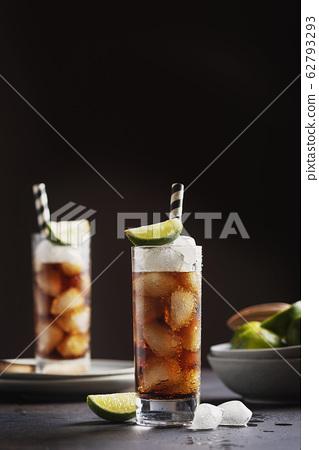 Alcoholic cocktail cuba libre 62793293