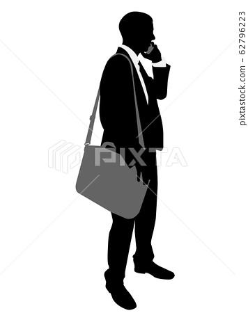 businessman standing silhouette  62796223
