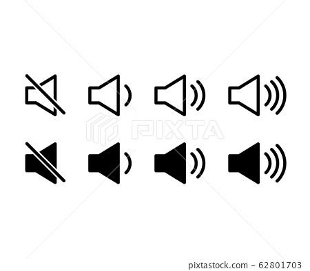 音量,音量圖標/象形圖/靜音/大音量 62801703