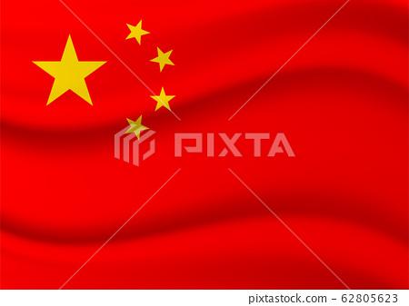Flying chinese flag image 62805623