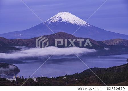 (가나가와 현) 하코네 大観山에서 바라 보는 후지산 새벽 62810640
