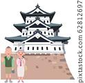 Hirosaki Castle and Senior Couple Travelers 62812697
