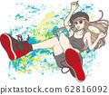 女孩穿运动鞋(背景) 62816092