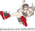 女孩穿运动鞋 62816093
