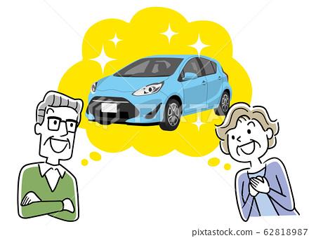 插圖材料:老年人用車,安全,私家車 62818987