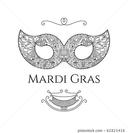 Mardi Gras greeting card 62821418