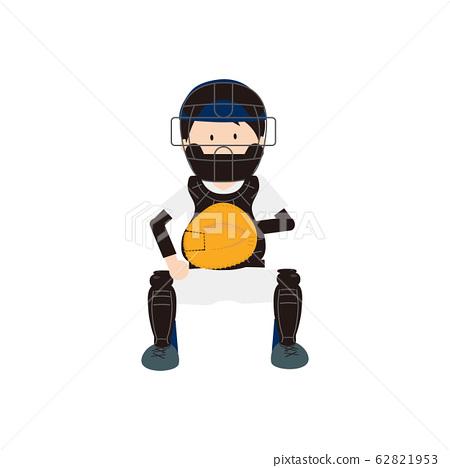 야구 남자 포수 62821953