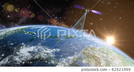 Satellite transmits a signal 62821999