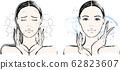 女性乾性皮膚前後 62823607