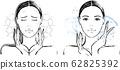 女性乾性皮膚前後 62825392
