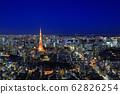 Tokyo night view of Tokyo Tower 62826254