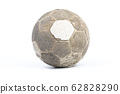 Very old ball for soccer Isolated 62828290
