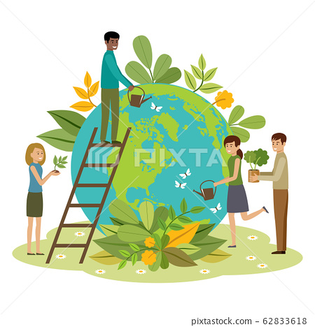 Ecology concept. People take care about planet. 62833618