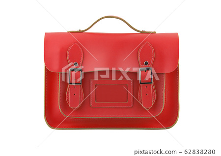 Red Satchel isolated on a white background with clipping path 62838280