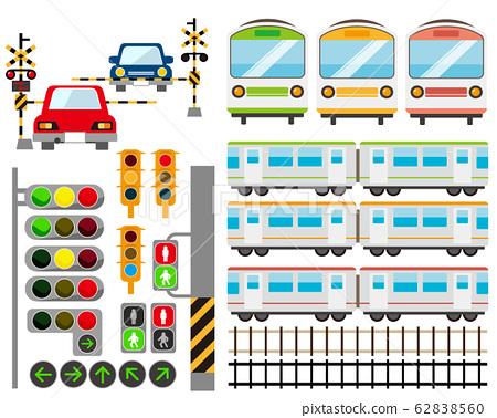 鐵路道口火車火車鐵路圖標 62838560