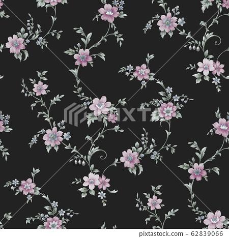 時尚花卉素材,水彩花卉設計 62839066