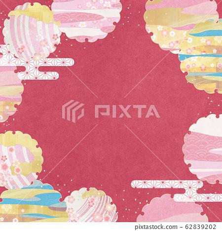 樱花-雪环-樱花-背景素材-日式背景素材-日本现代 62839202