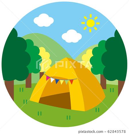 캠프의 풍경 62843578