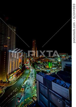 Night view around Hamamatsu Station 62844969