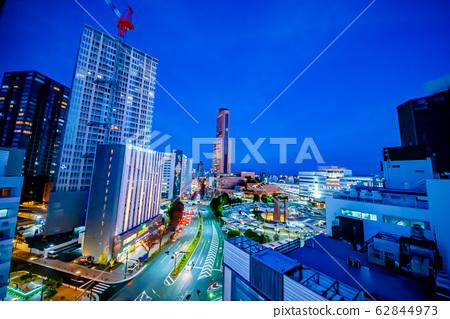 Night view around Hamamatsu Station 62844973