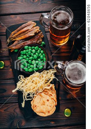 beer and snacks set. pub, restaurant, bar food 62848656