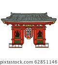 Asakusa Kaminarimon with black line 62851146
