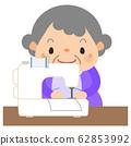 할머니 - 재봉틀 62853992