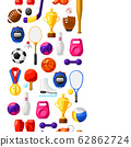 Seamless pattern with sport icons. 62862724