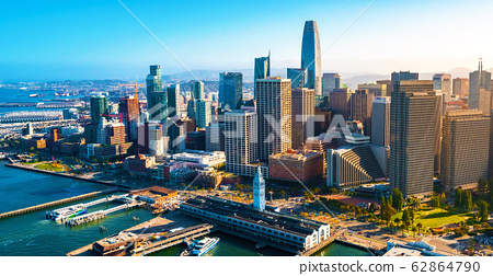 Downtown San Francisco aerial view 62864790