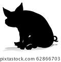Pig Silhouette Farm Animal 62866703