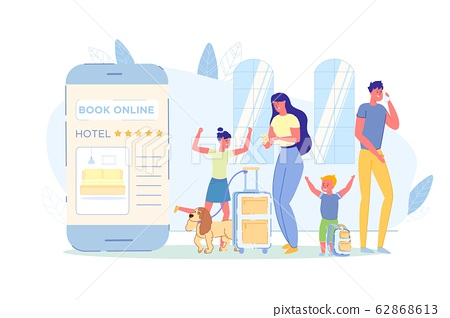 Happy Family Book Room in Popular Hotel, Banner. 62868613
