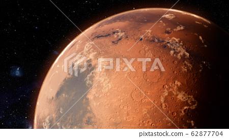 Orbiting Planet Mars. High quality 3d illustration 62877704