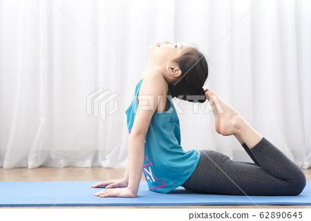 kid yoga at home 62890645