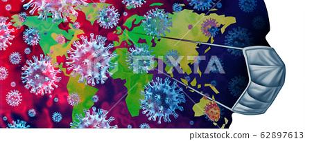 Virus Pandemic Outbreak 62897613