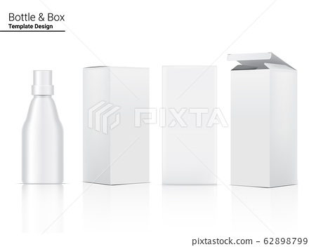 Bottle Mock up Realistic Cosmetic and Box for 62898799