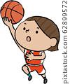 바구니 레이업슛 아시아 여자 62899572