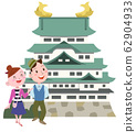 Nagoya Castle and couple 62904933