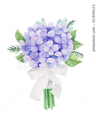 植物水彩繡球花束 62906023