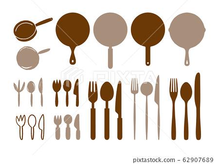 各種叉子刀勺煎鍋 62907689