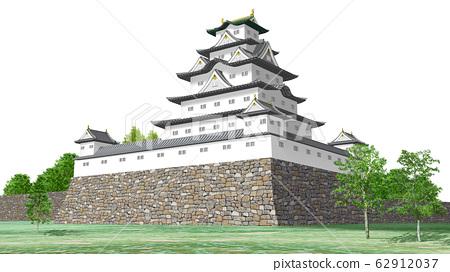 일본의 화이트 캐슬의 일러스트 62912037
