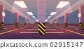 Vector empty underground car parking 62915147