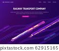 Railway transport company isometric landing page 62915165
